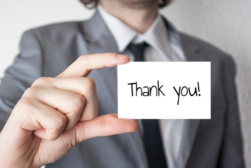 It's important for ecommerce companies to show their appreciation to customers.